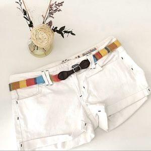 White shorts with belt | Indigo Rein